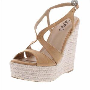 XOXO Sabeen faux suede espadrille shoes sandals